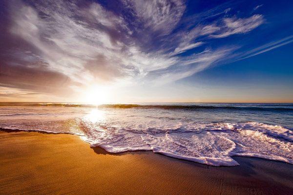 california, sunset, dusk
